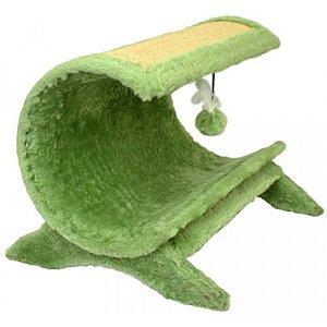 Arranhador Gatos Aloha Pelúcia São Pet Verde 60x51x45cm