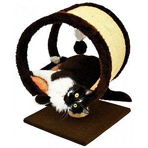 Arranhador Para Gato Ring Pelúcia São Pet 38x36x52cm