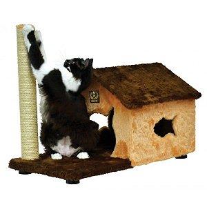 Arranhador Gato Fit House São Pet Marrom 70x36x55cm