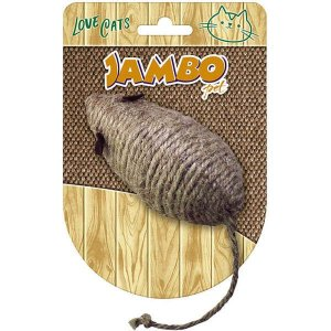 Brinquedo Para Gato Palha Rato Mouse Natural Jambo