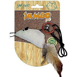 Brinquedo Para Gato Rato Natural Catnip Jambo