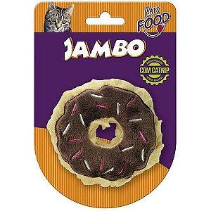 Brinquedo Para Gato Pelúcia Food Donut Chocolate Jambo