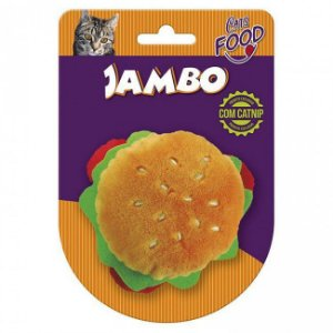 Brinquedo Para Gato Pelúcia Food Hambúrguer Jambo