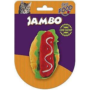 Brinquedo Para Gato Pelúcia Food Hot Dog Jambo