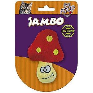 Brinquedo Para Gato Pelúcia Food Cogumelo Vermelho Jambo