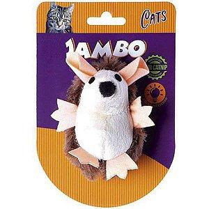 Brinquedo Para Gato Pelúcia Ouriço Brilhante Marrom Jambo