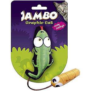 Brinquedo Para Gato Grafic Crocodilo Verde Jambo