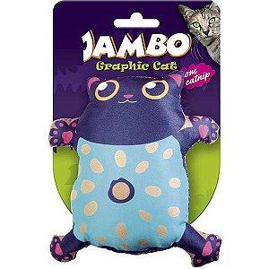 Brinquedo Para Gato Grafic Gato Cute Preto Jambo