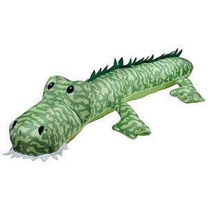 Brinquedo Para Cachorro Pelúcia Jacaré Long Gigante Verde Jambo