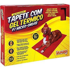 Tapete Com Gel Térmico Interno Para Cachorro Vermelho Jambo