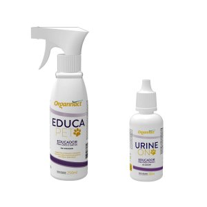Educador Organnact Urine On + Educa Pet para Cães e Gatos