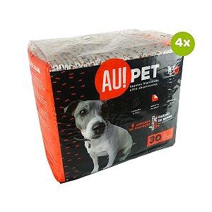 Tapete Higiênico Para Cachorro Carvão de Bambu 120 Unidades