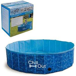 Piscina para Cachorro Chill Out Portátil Azul