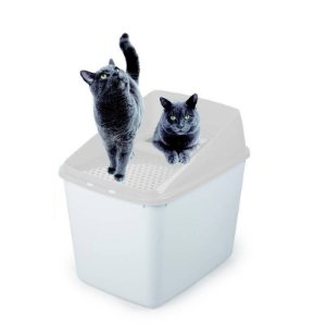 Caixa de Areia Para Gatos Go Fresh Mess Litter Box Afp