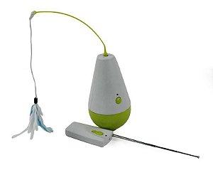 Brinquedo Para Gatos Interactive Culbuto Afp Verde e Branco