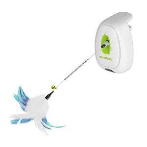 Brinquedo Para Gato Interactive jumping Wand Afp Verde e Branco
