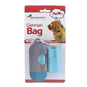 Kit Porta Saquinhos Coletores Dois Rolos German Bag Azul