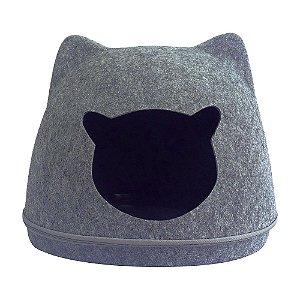 Cama Toca Para Gatos Pet Lon Cinza