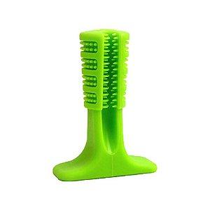Escova De Dente Para Cachorro Pet Lon Verde