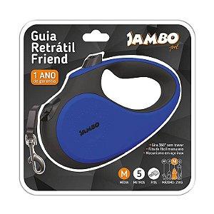 Guia Retrátil Para Cachorros Jambo Azul