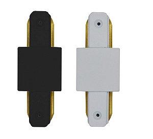 Emenda Eletrificada Trilho Simples 180° (Branca ou Preta)