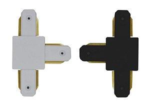 Emenda Eletrificada Trilho Simples T (Branca ou Preta)