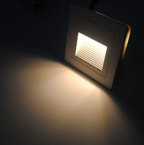 Balizador LED 2 Watts Quadrado IP65 (3.000K/Amarela)