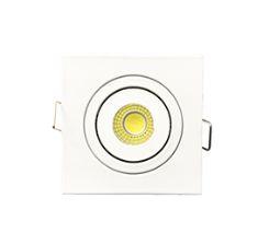 Mini Spot LED 3 Watts Direcionável - Quadrado