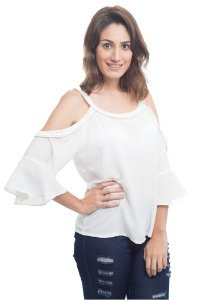 Blusa Ombro À Mostra Branca
