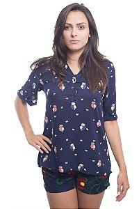 Camisa Corujinha Azul