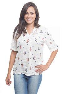 Camisa Corujinha Branca