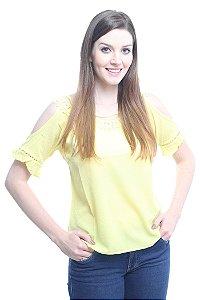 Blusa Ombro Vazado Amarela