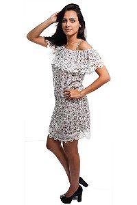 Vestido Ciganinha com Alça Branco