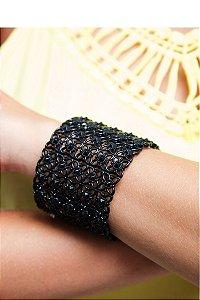 Pulseira Bracelete Desenhada na cor Preta