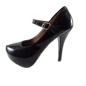 Sapato Meia Pata Alto Lelas's - Preto Envernizado