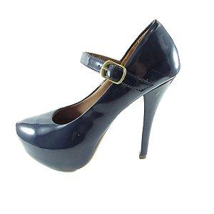 Sapato Meia Pata Lelas's - Azul Marinho Envernizado