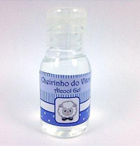 Mini Álcool Gel Basic Ovelha Azul bebê