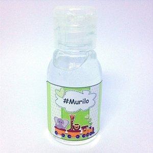 Lembrancinha Mini Alcool gel 30 ml Basic com Tag