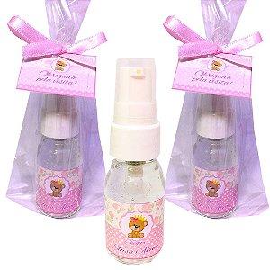 Lembrancinha Maternidade Mini Álcool gel 30 ml Dosador Basic com Tag