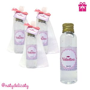 Lembrancinha Maternidade Álcool gel 60 ml Personalizado