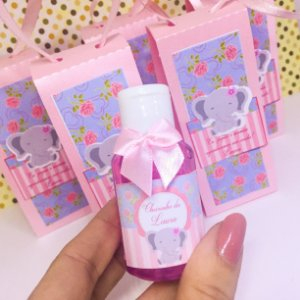 Lembrancinha Maternidade - Mini Alcool gel 30 ml classic na sacolinha