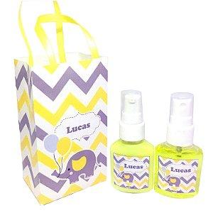Lembrancinha Maternidade - Kit Hidratante e Home Spray na sacolinha