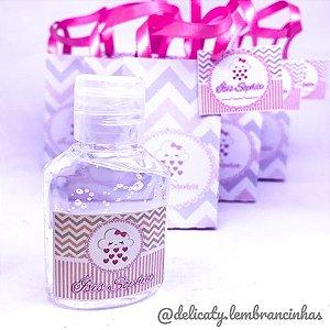Lembrancinha Maternidade - Mini álcool gel 40 ml na sacolinha