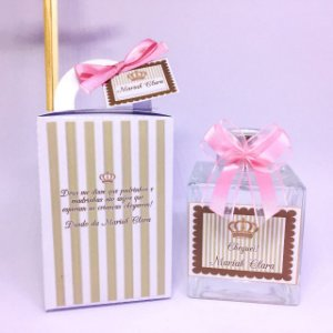 Presente Dinda ou Dindo - Aromatizador 100 ml vidro na caixa personalizada
