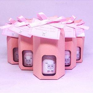 Lembrancinhas Maternidade - Mini álcool gel 30 ml classic na sacolinha colorida