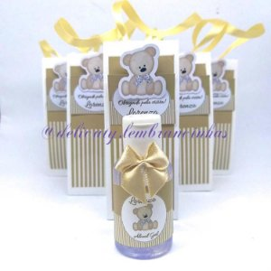 Lembrancinhas Maternidade - Mini álcool gel 30 ml classic na sacolinha scrap