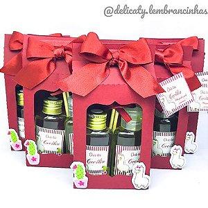 Lembrancinhas Chá de Bebê - Sacolinha Personalizada com Alcool Gel e Aromatizador