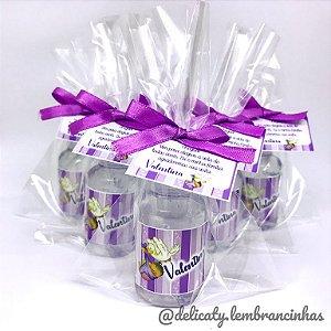 Lembrancinhas Maternidade - Mini álcool gel 30 ml basic com tag