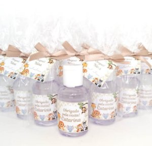 Lembrancinha Maternidade - Mini álcool gel 30 ml basic com tag
