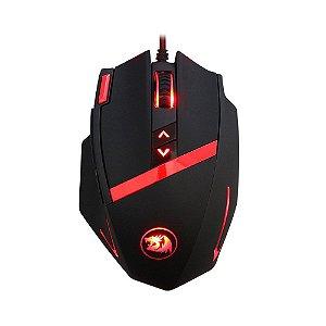 Mouse Redragon Mammoth 16400DPI 10 BOTÕES E AJUSTE DE PESO USB M801 (BLACK)